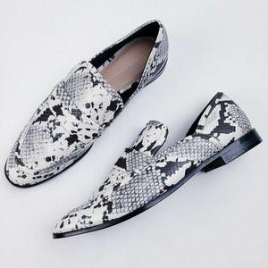Zara Animal Print Slip On Loafer Shoe Size US 9.5